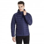 90 GO FUN Feather coat Men Blue L