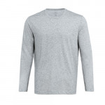 90 GO FUN men's antibacterial long-sleeved T-shirt Gray