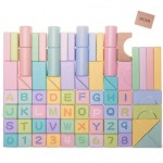 BEVA Children's Educational Building Colored Blocks 80 pcs
