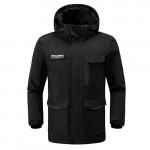 ULEEMARK men's multifunctional super storage travel jacket Black