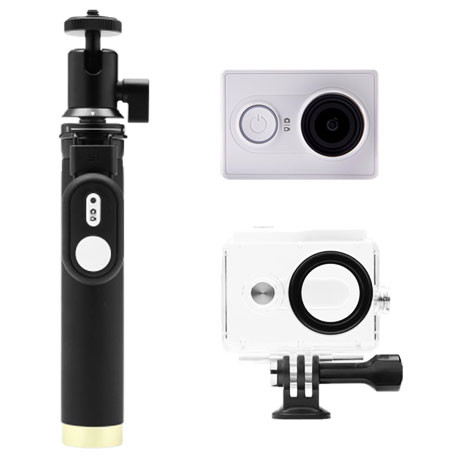 Yi Action Camera White Travel Kit